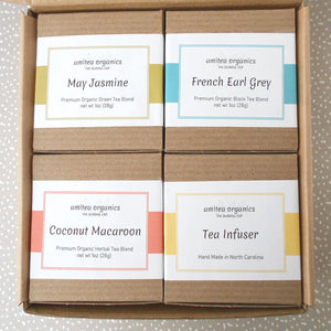HAPPY BIRTHDAY Organic Tea Gift Box | Tea Lover Birthday Celebration