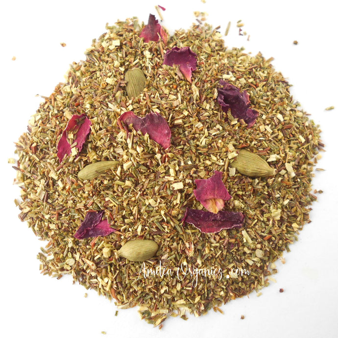 CARDAMOM ROSE Organic Herbal Rooibos Tea
