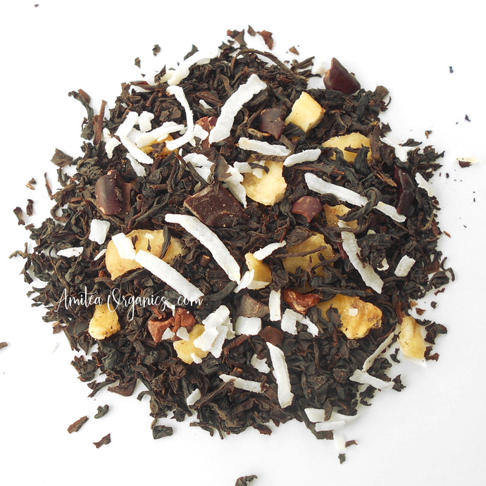 Chocolate, Banana, Coconut, Organic Loose Leaf Tea FUNKY MONKEY