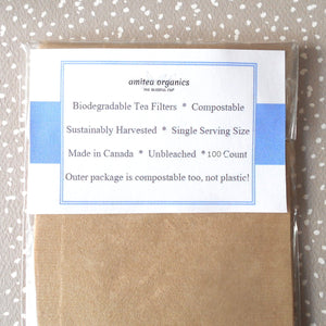 Tea Filters | Disposable | 100 Pack | Unbleached