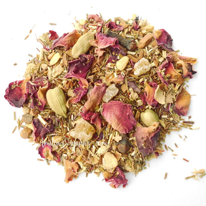 Rose Chai Organic Herbal Tea SHANTI CHAI