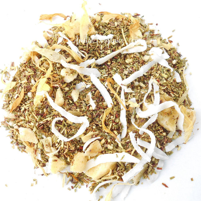 Banana Coconut ISLAND TIME Organic Herbal Tea