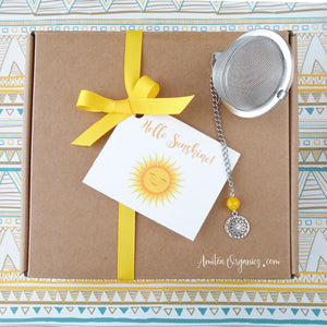 HELLO SUNSHINE Organic Tea Care Package | A Box of Sunshine Gift