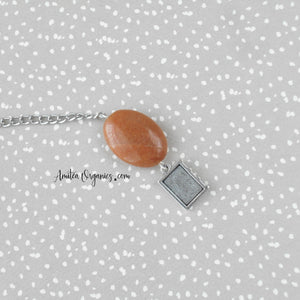 Book Charm Tea Infuser with Aventurine Stone