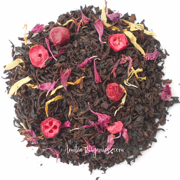 Pomegranate Cranberry Organic Loose Leaf Tea POMBERRY