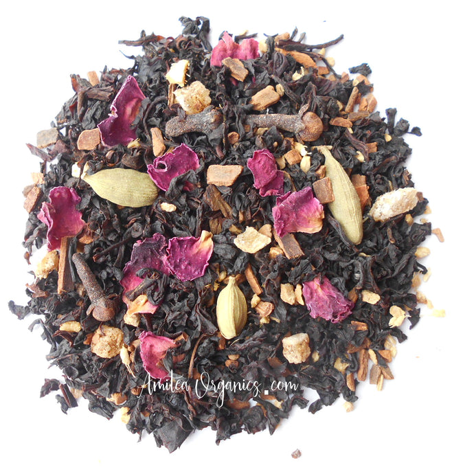 Rose Chai Organic Loose Leaf Tea SHALIMAR CHAI