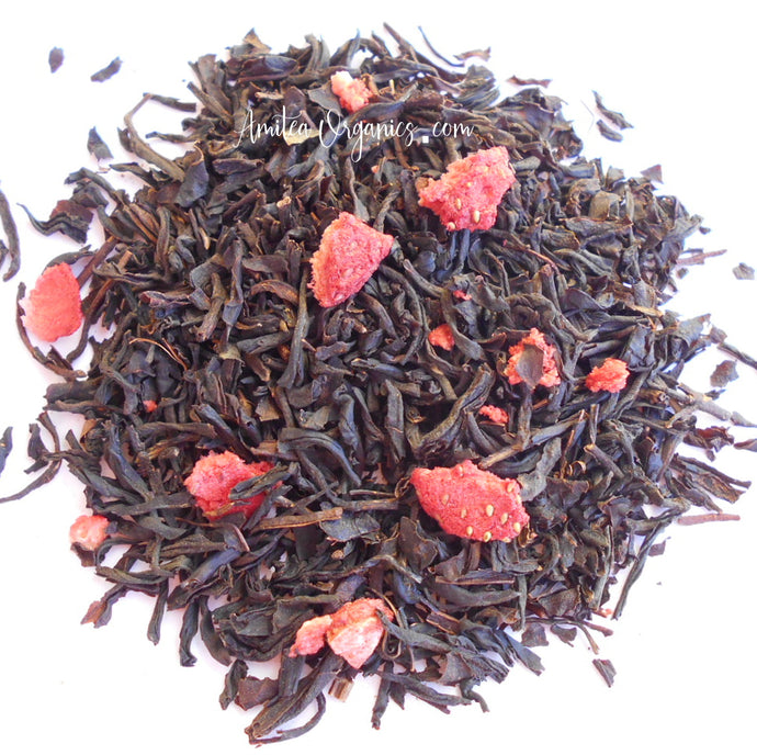 STRAWBERRY SHORTCAKE Organic Loose Leaf Black Tea