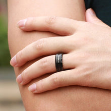 Load image into Gallery viewer, Men's Black Titanium Carbide Ring