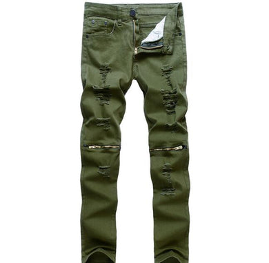 Men's Army Distressed Jeans