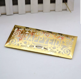 Happy Eid gold metallic money envelope. x5.