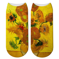Sunflowers Van Hogh. Socks. One size. Great gift idea!