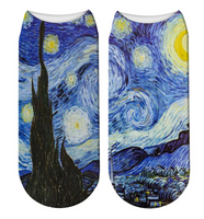 Van Gogh's Starry Night. Socks. One size. Different gift idea!
