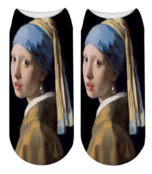 Girl with a Pearl Earring. Johannes Vermeer Socks.