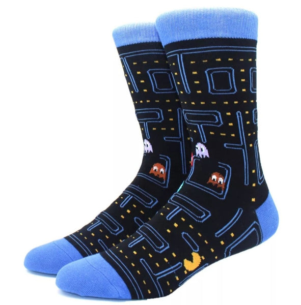 Pac-Man patterned socks. One Size. Unisex.