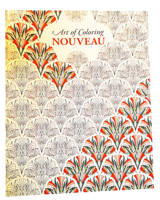 Art of Coloring Nouveau, adult colouring in book.