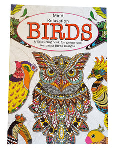 Bird Themed A4 Adult Colouring in Book