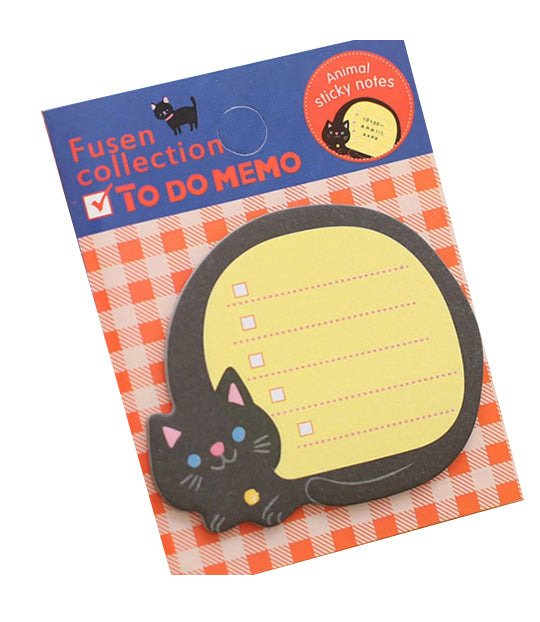 Black Cat Sticky Note Memo Pad. Seriously Cute Stationery.