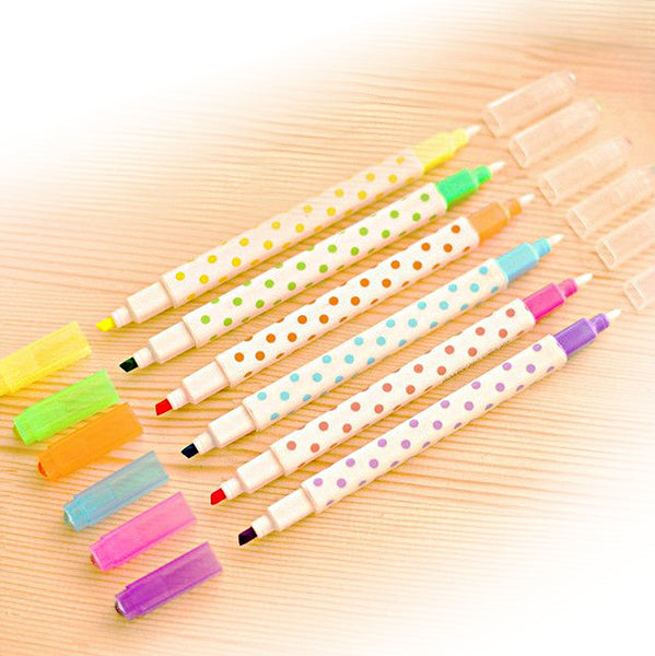 Erasable highlighter/felt tip set of 6.
