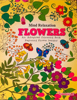 Adult Colouring Book - Flowers