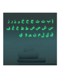 Glow in the dark Arabic alphabet stickers