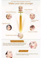 Vibrating gold face massager. Rejuvenate your skin!