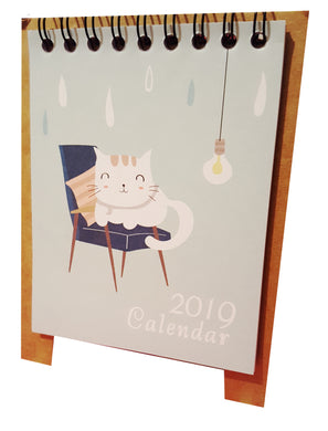 2019 small cat desk calendar.