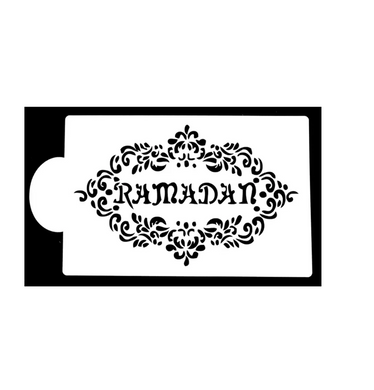 Large Ramadan Cake Stencil with floral border