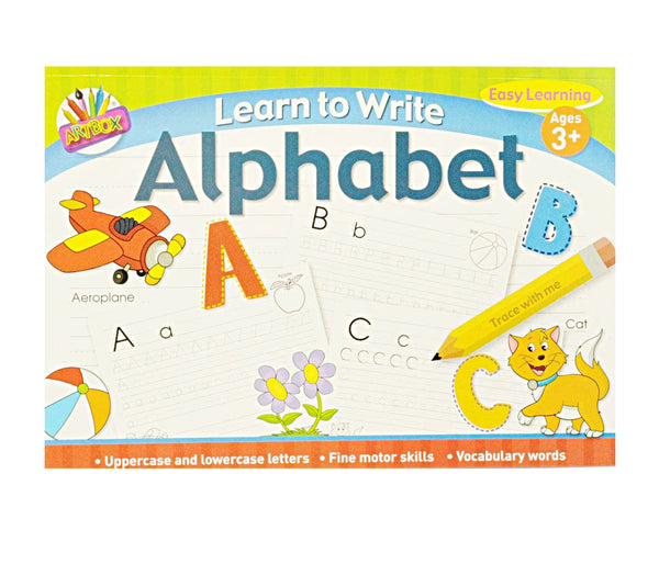 Learn to Write Alphabet. Dot to Dot, Handwriting practice.