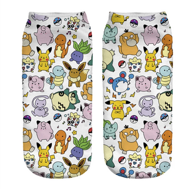 Pokemon ankle socks, Unisex, Gift idea.