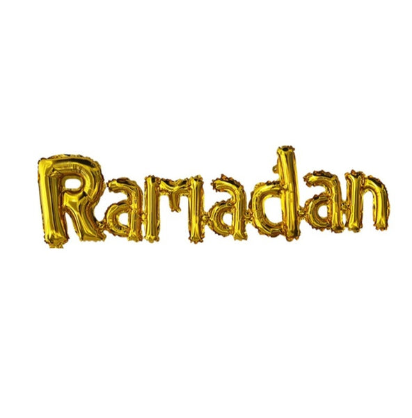 """Ramadan"" foil balloon in gold,"