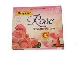 Incense Dhoop cones. Pack of 12. Rose or Lavender.