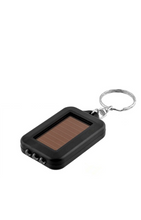 Solar powered torch keyring.