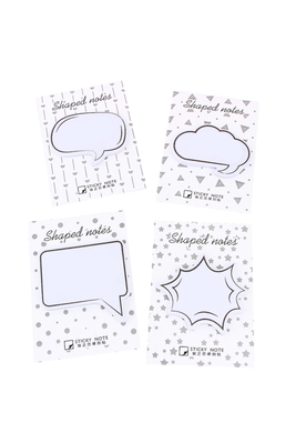 Speech Bubble, Dialogue Sticky Memo Note Pad.