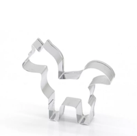 Unicorn shaped biscuit cutter.