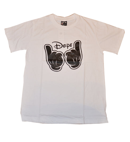 """Dope"" Men's t shirt. Available in White. Limited stock."