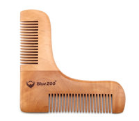 Wooden beard stencil and comb. Anti static beard care.