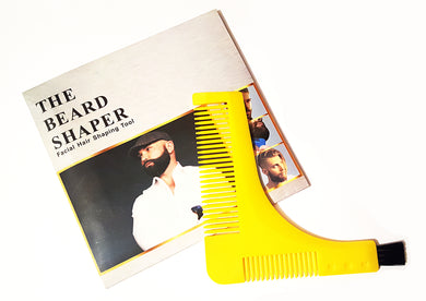 Beard shaper comb/stencil/brush.