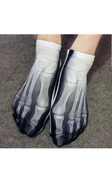 Printed metatarsal x-ray socks. Unisex, one size, Funny gift idea.
