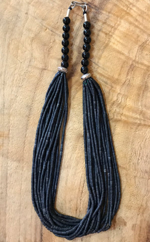 Black Multi strand Necklace