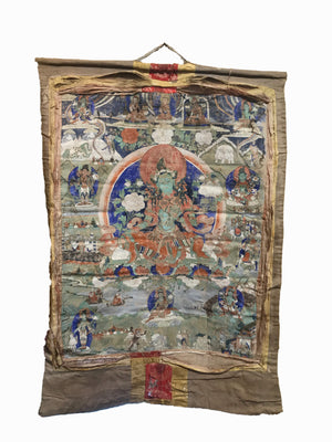 Antique Thangka 110x78cms