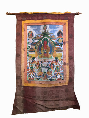 Antique Thangka 106x65cms