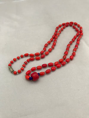 Old Red Glass Beads