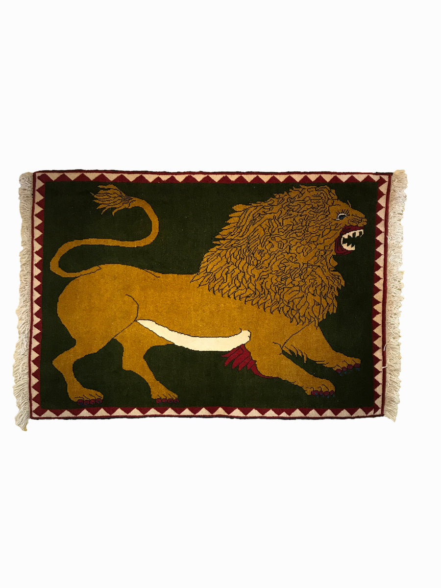 Lion Rug of FARS 145x100cms