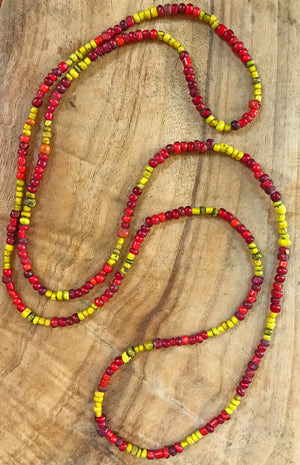 Old Glass Bead Necklace