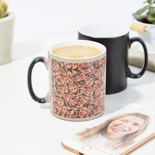 Face Mash - Personalized Heat Change Mug