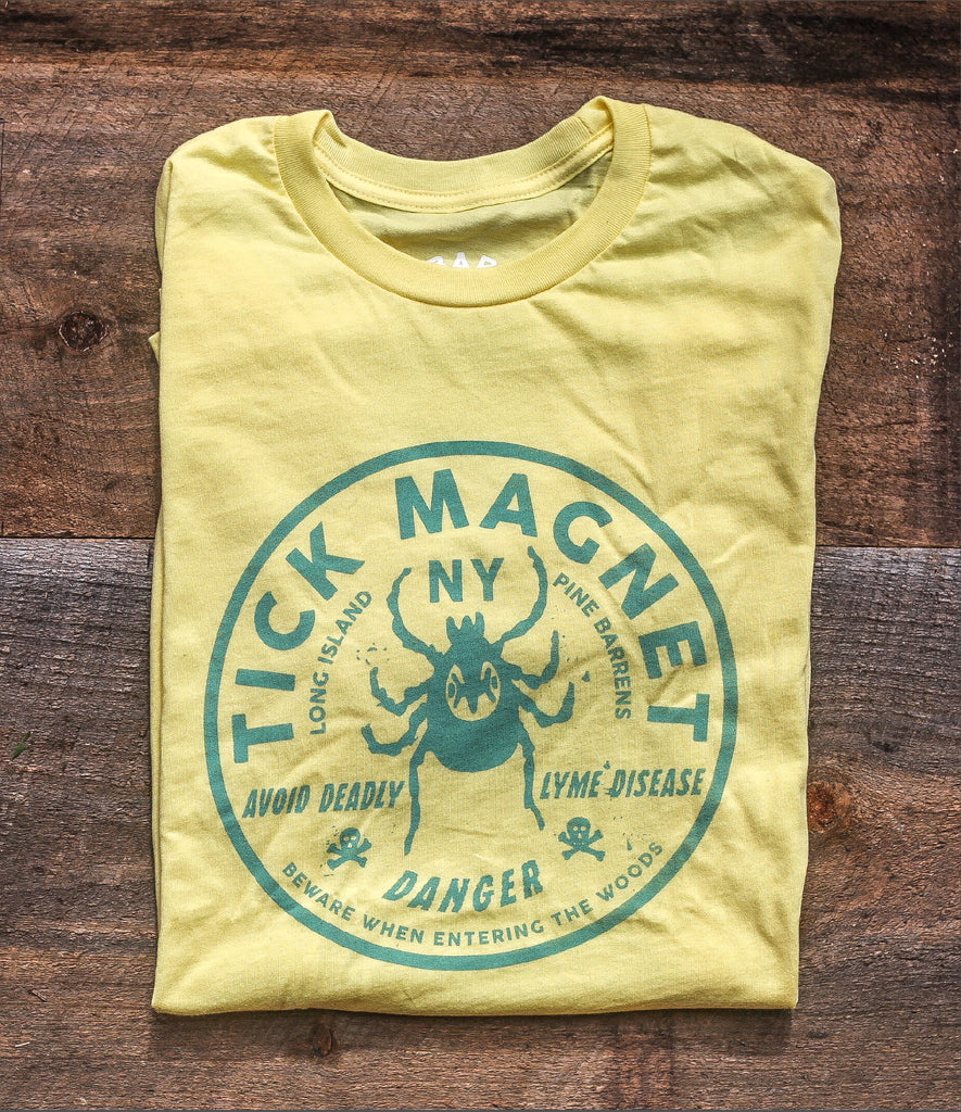TICK MAGNET TEE - SUMMER YELLOW