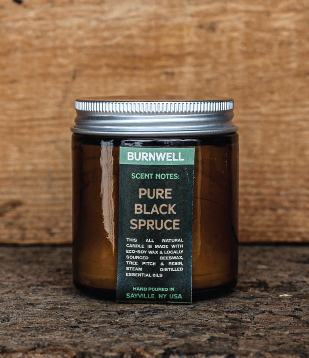 BLACK SPRUCE CANDLE 1