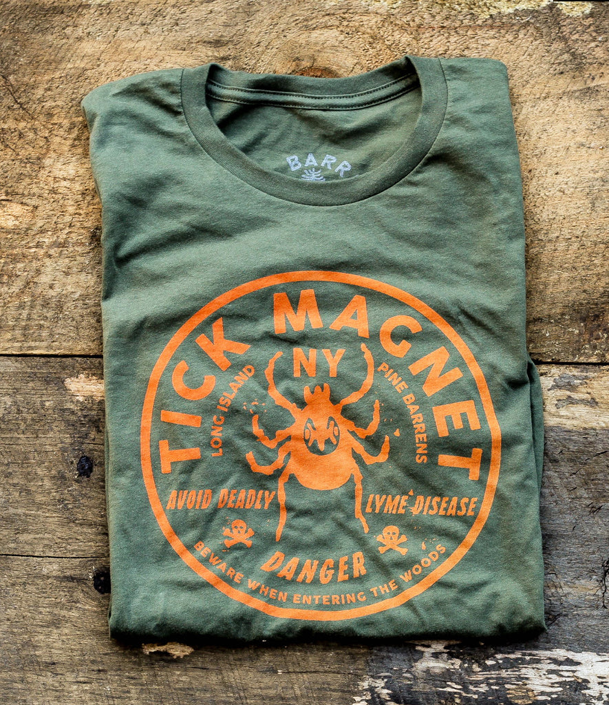 TICK MAGNET TEE - ARMY GREEN