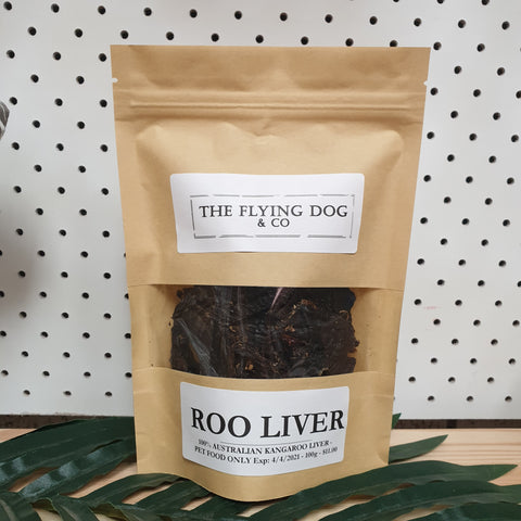 Roo Liver - 100g - The Flying Dog n Co gerringong australia pet boutique collective smallbusiness ladystartups