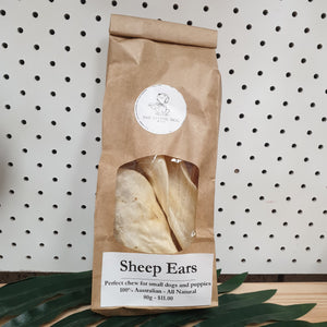 Sheep Ears -  qty: 5 - The Flying Dog n Co gerringong australia pet boutique collective smallbusiness ladystartups